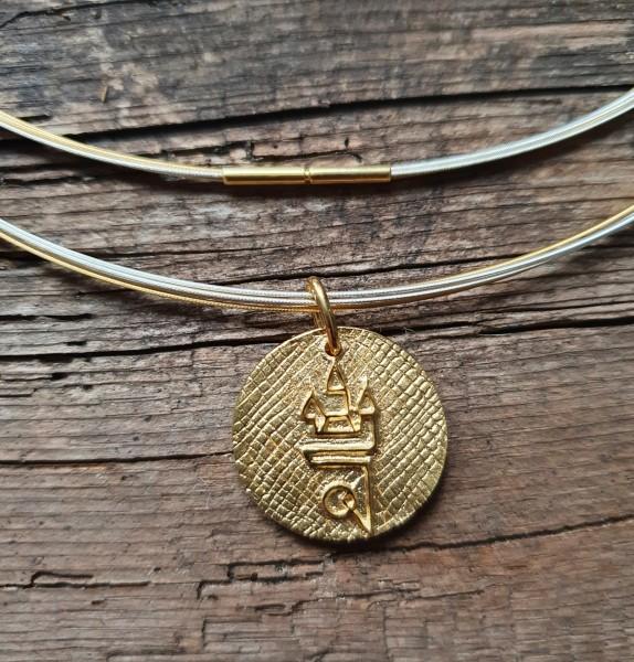 Straubing Talisman Gold mit Edelstahlcollier bicolor