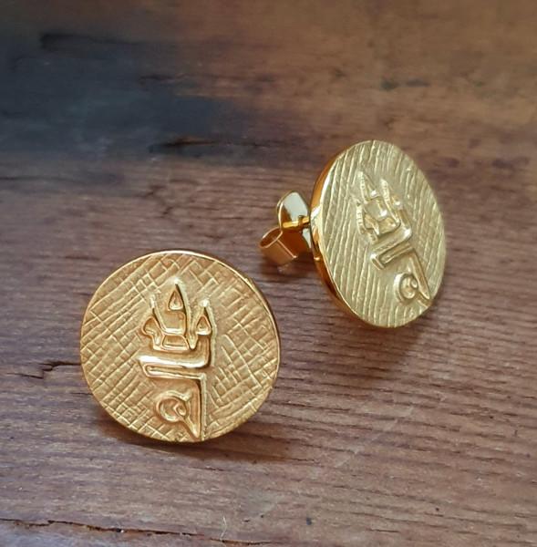 Straubing Talisman Ohrringe Gold