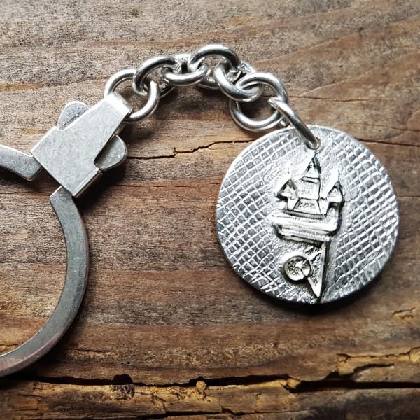 Straubing Talisman Schlüsselanhänger Silber