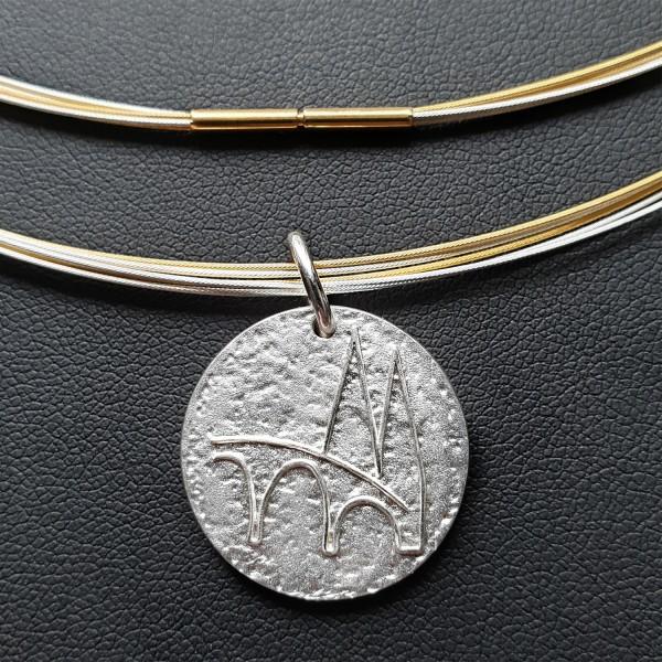 Regensburg Talisman Silber mit Edelstahlcollier bicolor