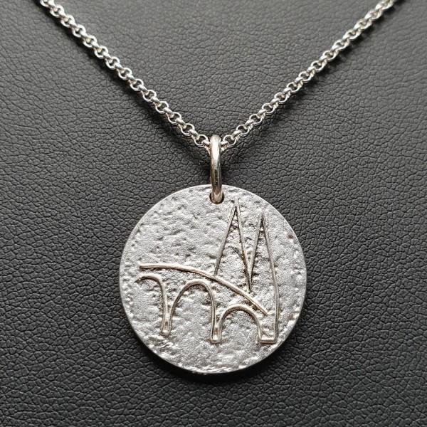 Regensburg Talisman Silber mit Silberkette
