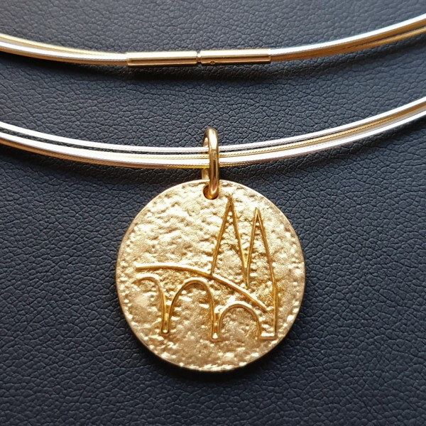 Regensburg Talisman Gold mit Edelstahlcollier bicolor