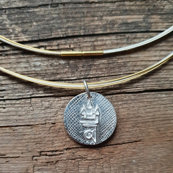 Straubing Talisman Silber mit Edelstahlcollier bicolor