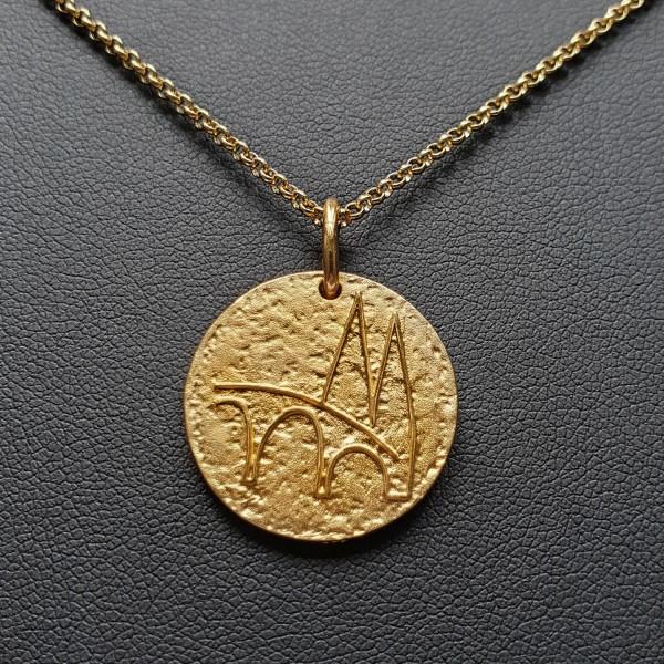 Regensburg Talisman Gold mit Goldkette
