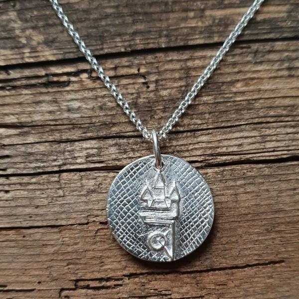 Straubing Talisman Silber mit Silberkette
